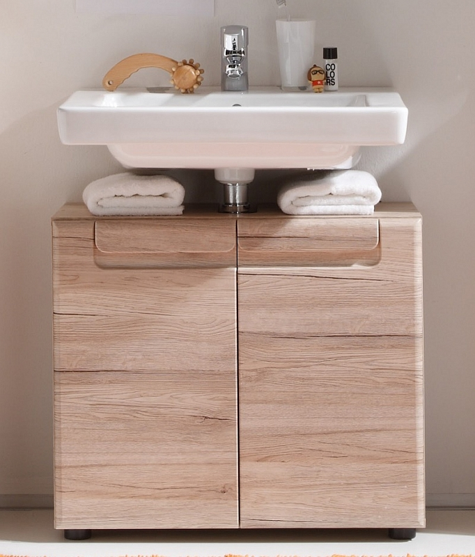 Waschbeckenunterschrank Malea | Waschtisch | Eiche San Remo hell
