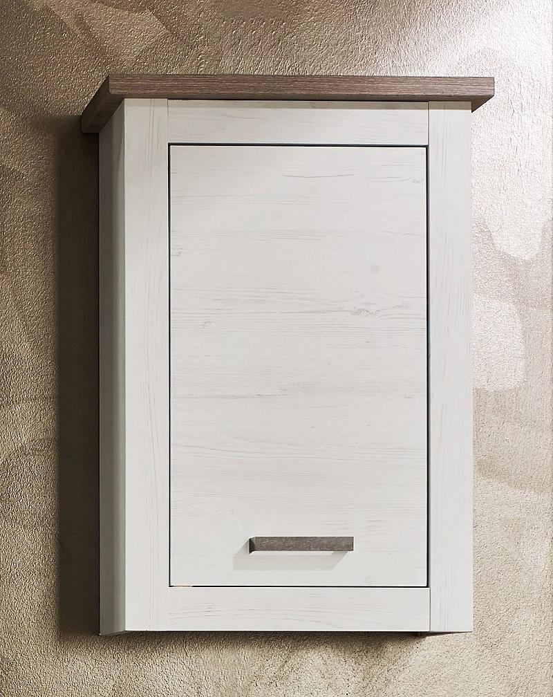 Elegant Badezimmer Set Lotte | Landhausstil | Pinie Weiß Struktur / Nelson Eiche |  5 Teilig