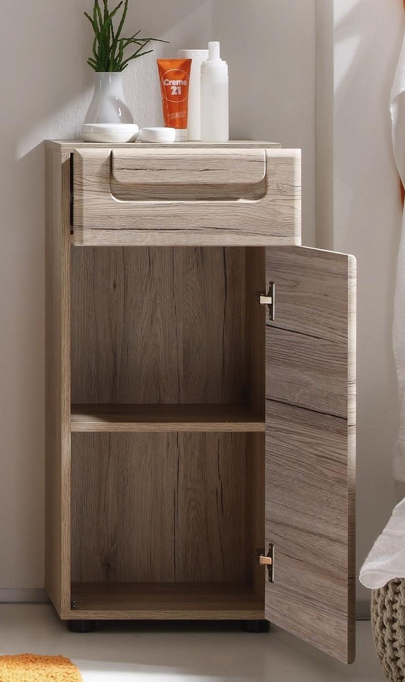 unterschrank malea bad eiche san remo hell. Black Bedroom Furniture Sets. Home Design Ideas