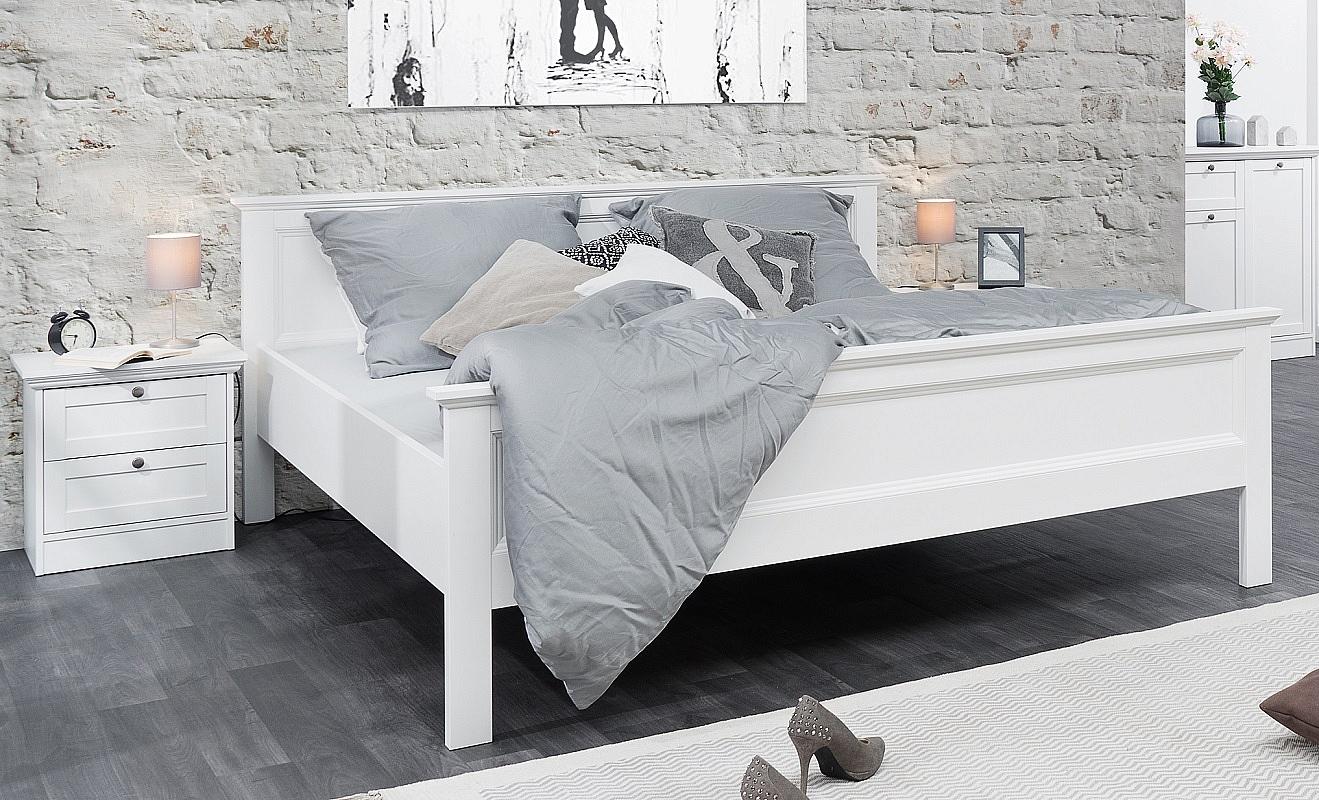 Brilliant Doppelbett Weiß 180x200 Dekoration Von Groß | | Weiß |