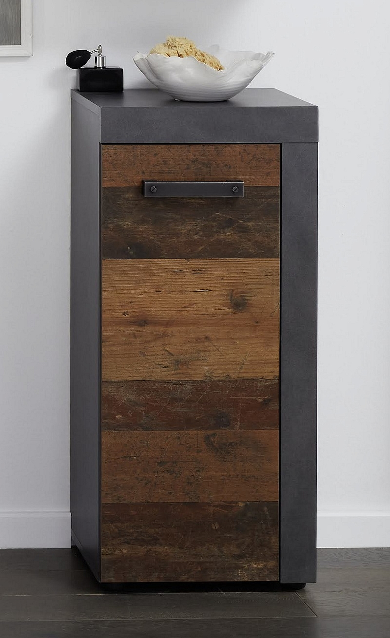 Kommode Cancun Indy | Matera grau / Old Used Wood | Shabby Look