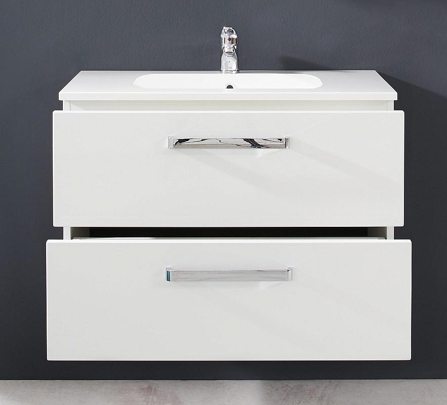 Waschbeckenunterschrank Adamo | weiß Hochglanz | inkl. Waschbecken
