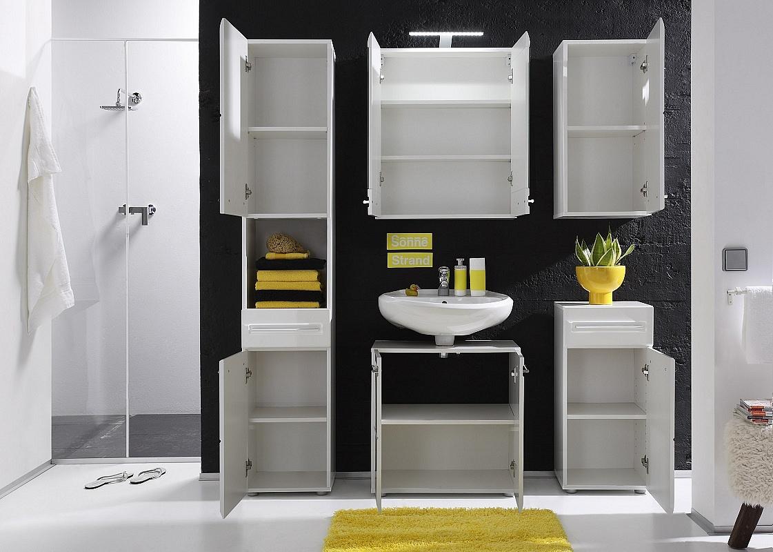 kommode bora bad wei hochglanz. Black Bedroom Furniture Sets. Home Design Ideas