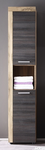 Badezimmer-Set Cancun | Nussbaum / Touchwood dunkelbraun | 5-teilig