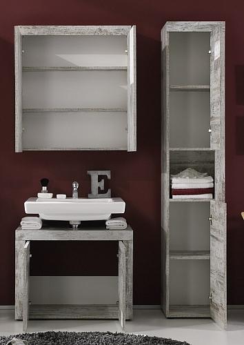 Badezimmer-Set Cancun| Canyon Pinie weiß | 3-teilig