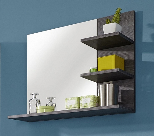 Badezimmer-Set Miami | weiß / rauchsilber | 5-teilig