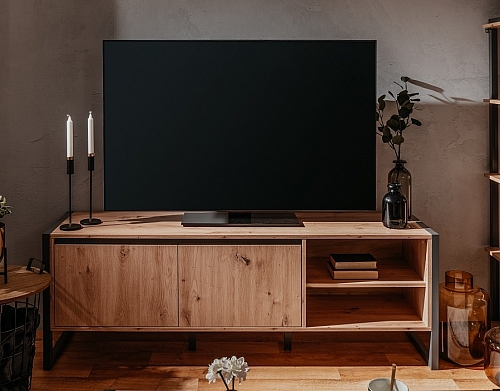 TV-Board Texas | Artisan Oak / anthrazit | Industrial Look