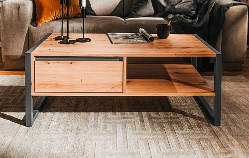 Couchtisch Texas | Artisan Oak / anthrazit | Industrial Look
