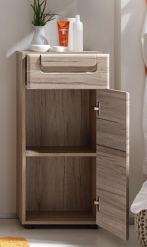 Badezimmer-Set Malea | Eiche San Remo hell | 5-teilig | mit Spiegel