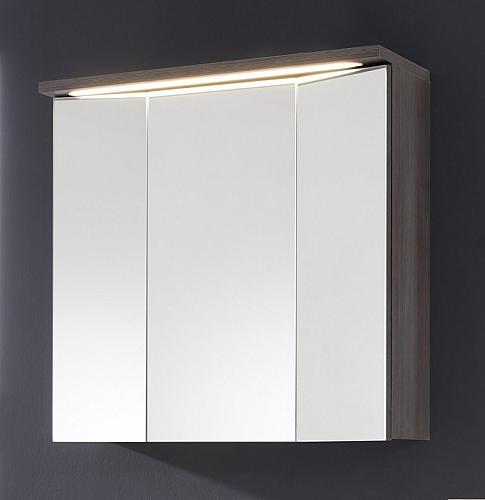 Spiegelschrank Adamo | rauchsilber | inkl. Beleuchtung | 75 cm