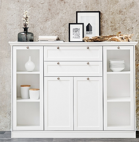 Sideboard Highboard Landus | Landhausstil | weiß