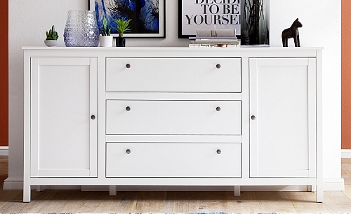 Kommode Sideboard Ole | Landhausstil | weiß