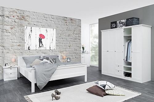 Doppelbett Landus groß | Landhaus | weiß | 180x200