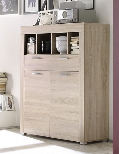Highboard Kommode Boom | Eiche sägerau hell