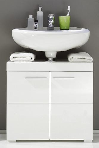 Badezimmer-Set Amanda | weiß Hochglanz | 3-teilig