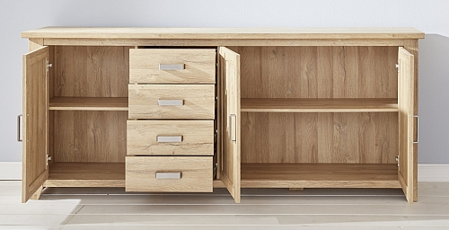 Sideboard Kommode Canyon groß | Alteiche Holz Design