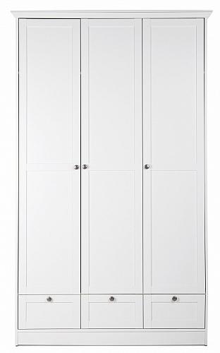 Kleiderschrank Schlafzimmerschrank Landus | Landhausstil | 3-türig | weiß