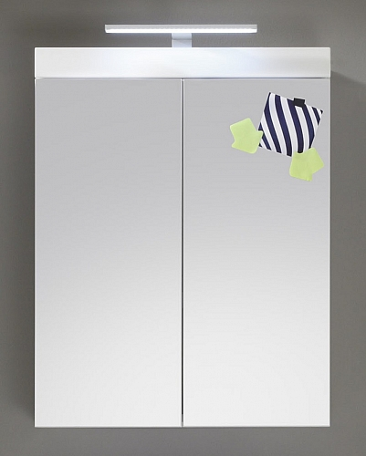 Badezimmer-Set Amanda | weiß Hochglanz | 5-teilig