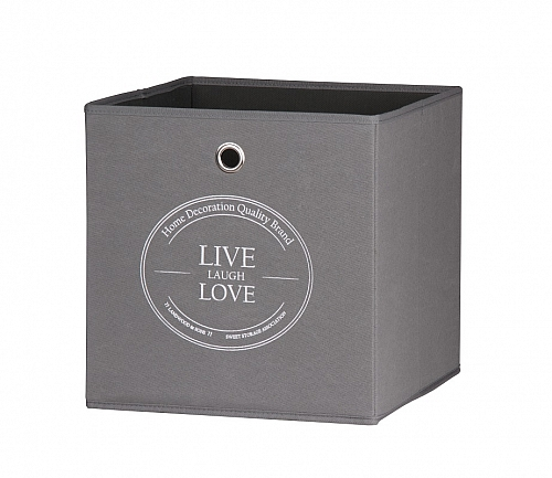 Regalbox Alfus | Live-Laugh-Love | anthrazit | 3er Set