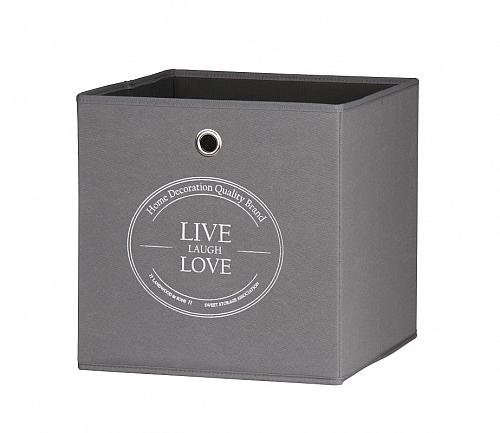 Regalbox Alfus   Live-Laugh-Love   anthrazit   3er Set