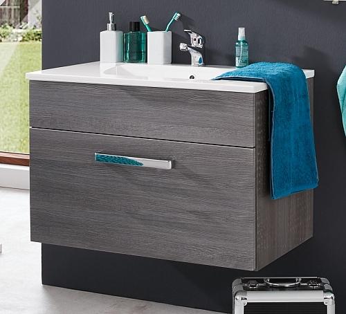 Waschbeckenunterschrank Adamo | rauchsilber | inkl. Waschbecken | Waschtisch