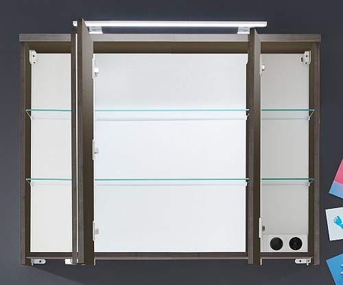 Spiegelschrank Adamo | rauchsilber | 96 cm