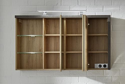 Spiegelschrank Bay | Eiche Honig / Beton