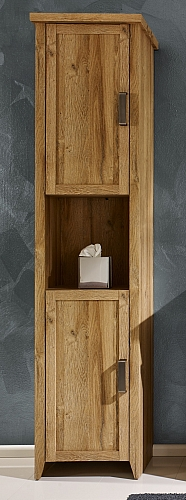 Hochschrank Canyon Bad | Alteiche Holz Design
