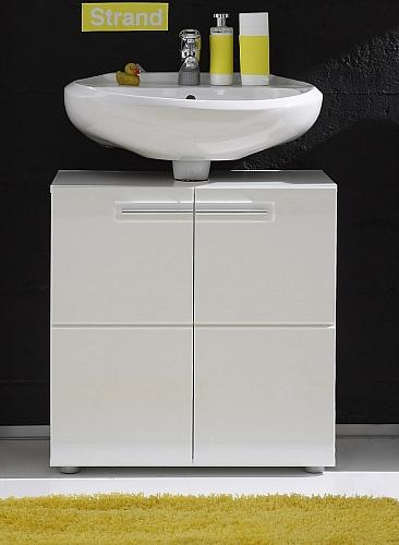 Waschbeckenunterschrank Bora | Waschtisch | weiß Hochglanz