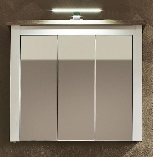 Spiegelschrank Lotte Bad | Landhausstil | Pinie Struktur weiß / Nelson Eiche